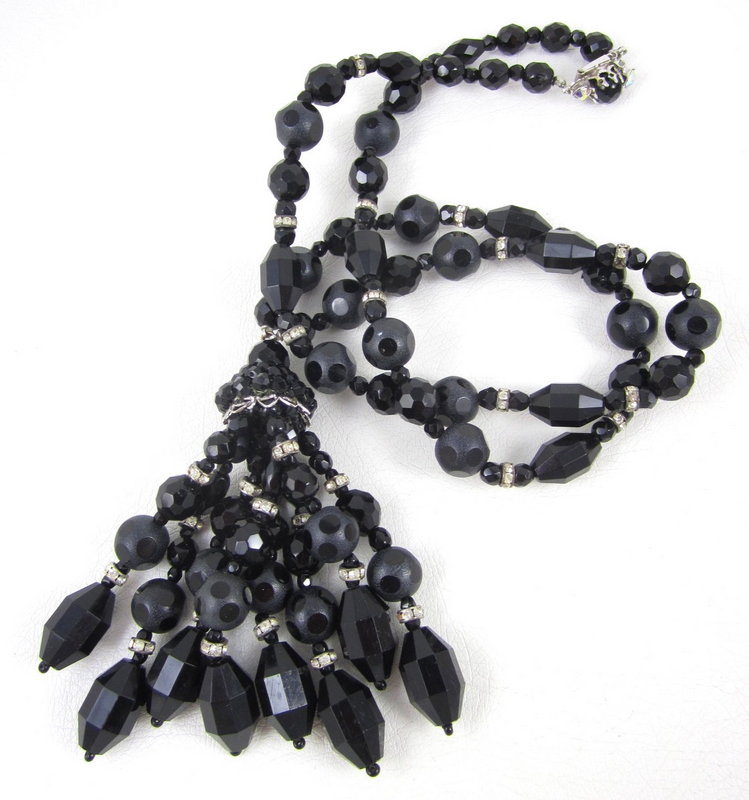 Beautiful Facets by Spectrum Crystal Tassel Necklace