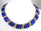 Stunning Trifari Electric Blue Briolette Necklace