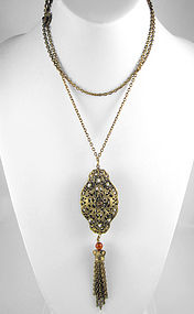Beautiful Barbosa Czech-Inspired Carnelian Necklace