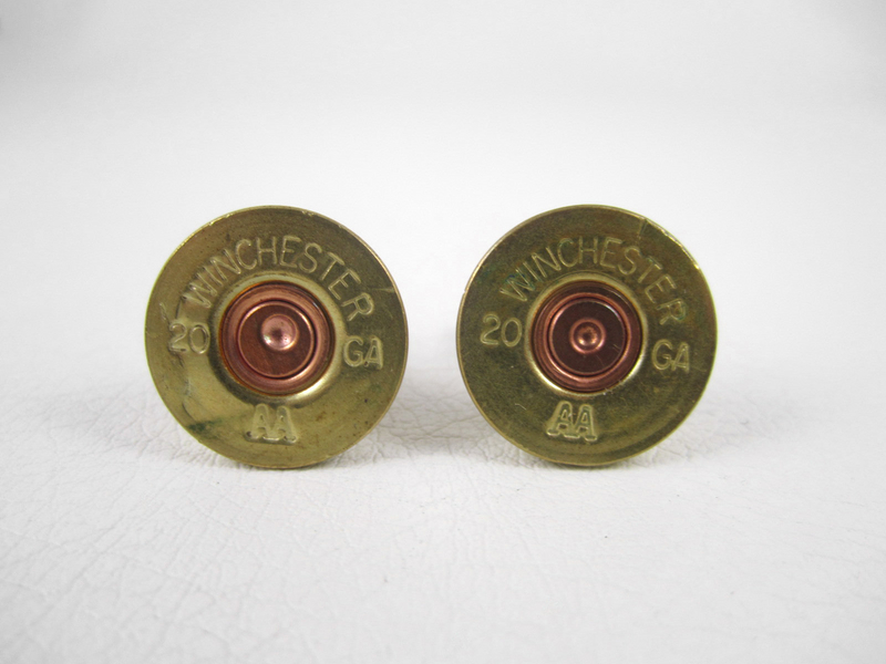Red Hot Pair of Bullet Casing Cufflinks