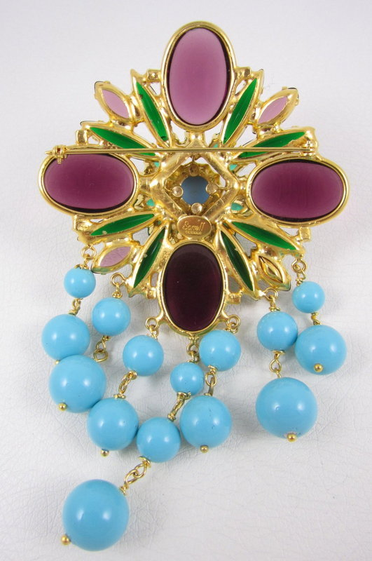 Gorgeous Robert Sorrell Turquoise Purple Dangling Pin