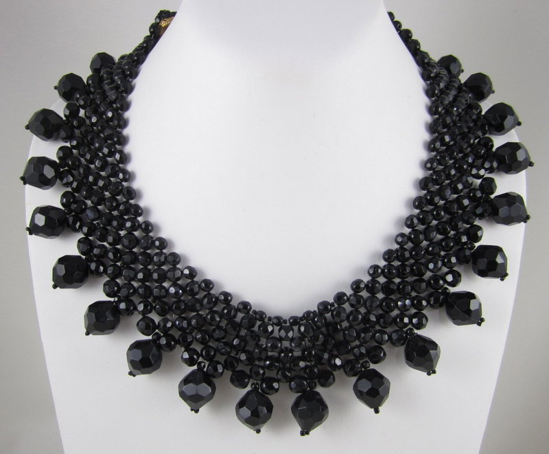 Classic Coppola e Toppo Black Crystal Necklace