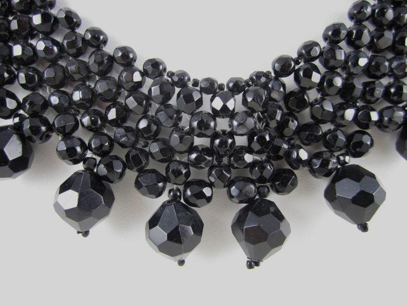 Classic Coppola e Toppo Black Crystal Necklace