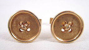 Joseph Merrin of New York 14k Button Cufflinks