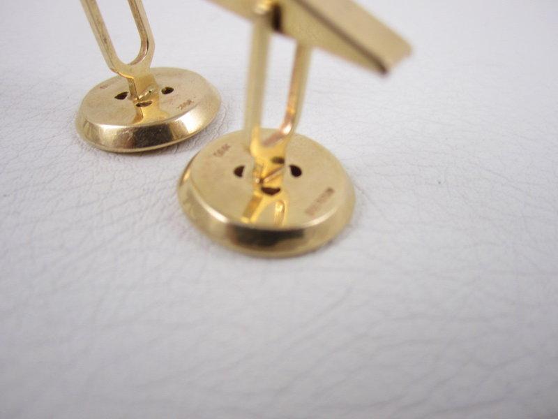 Joseph Merrin of New York 14k Button Cufflinks