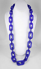 Playful Purple Translucent Resin Link Necklace