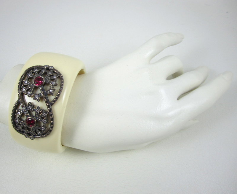 Miriam Salat Sterling & Resin Cuff Bracelet