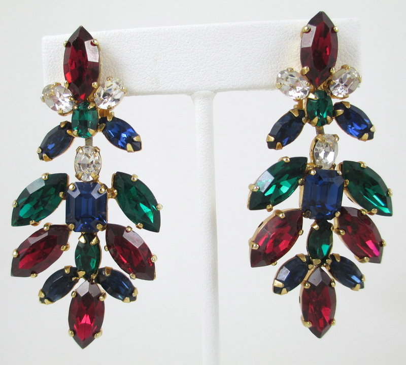 Dramatic Schreiner of New York Chandelier Earrings