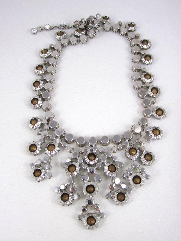 Outstanding Schreiner of New York Emerald Bib Necklace