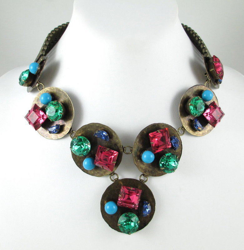 Outstanding Schiaparelli Necklace Bracelet Pin Earrings