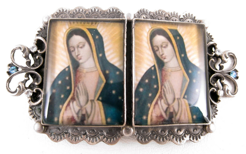 Divine Barbosa Virgin Mary Belt Buckle