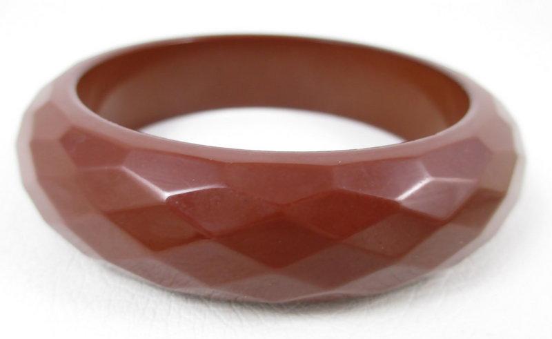 Beautiful Brown Faceted Bakelite Bracelet