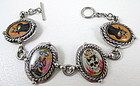 "Unusual ""Day of the Dead"" Skull & Katrina Bracelet"