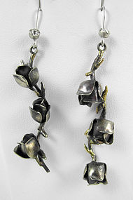 Charming Barbosa Roses & Thorns Earrings