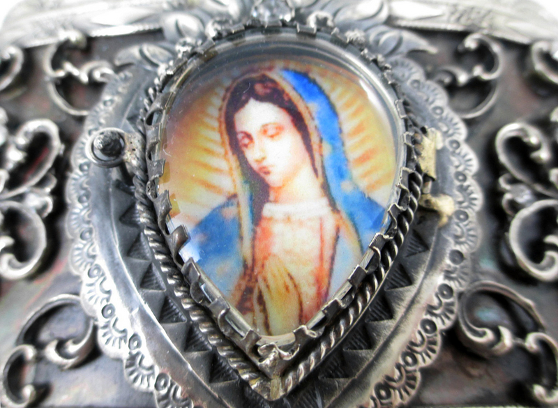 Wonderful Barbosa Virgin Mary Reliquary Belt Buckle