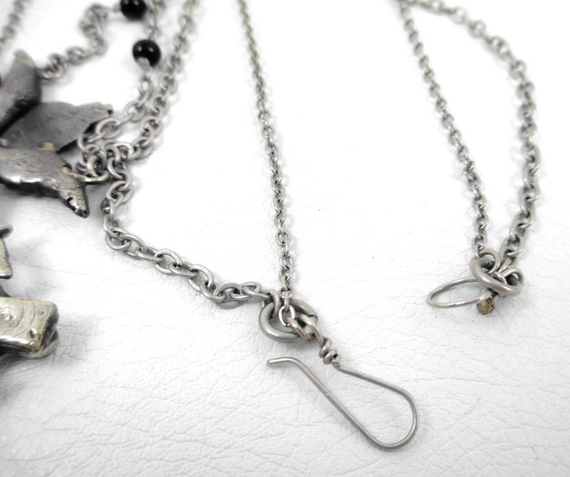 Barbosa Cross Religious Iconography Charm Bib Necklace