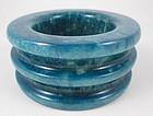 Amazing GG Bones Pearlized Teal Resin Bangle Bracelet
