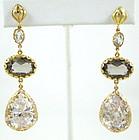 Sensational Azaara Faceted Crystal Dangling Earrings