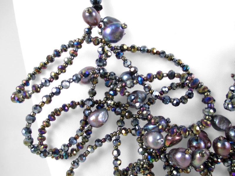 Shimmering Freshwater Pearl & Glass Bead Necklace