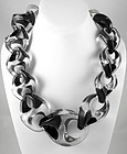 Opulent Organic Large Black & Clear Lucite Necklace