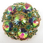 Juliana Delizza & Elster Green Rivoli Stone Pin