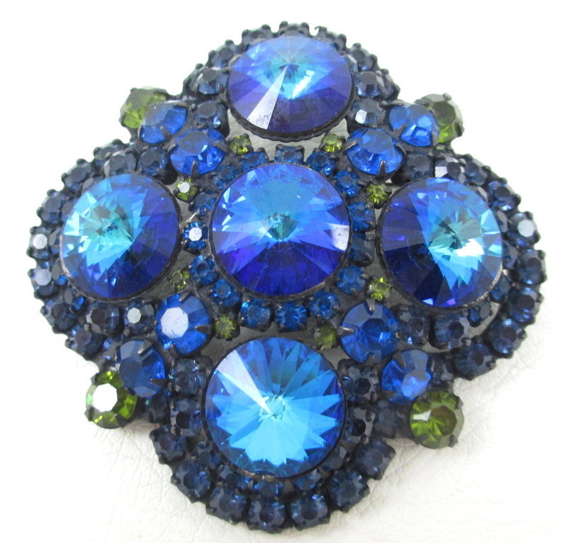 Delizza & Elster Juliana Montana Blue Rivoli Pin