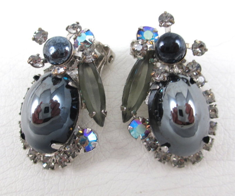 Juliana Delizza & Elster Hematite Necklace and Earrings