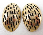 Lovely Stephen Vaubel Gilt Bronze Clip Earrings