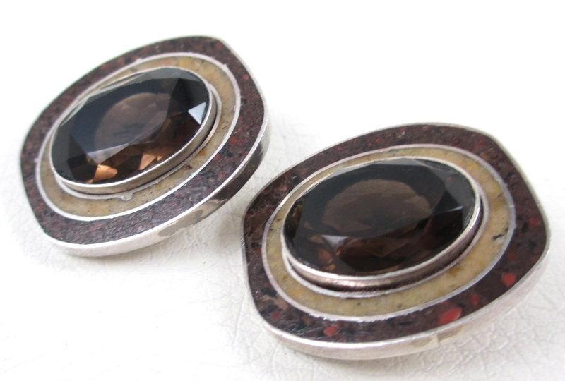 Gorgeous Celia Sebiri Sterling Topaz Earrings