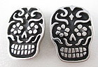 Whimsical Dian Malouf Sterling Day of the Dead Earrings