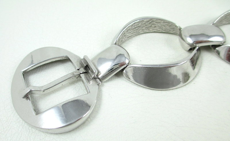 Chic Orlando Orlandini Italy 800 Silver Buckle Bracelet