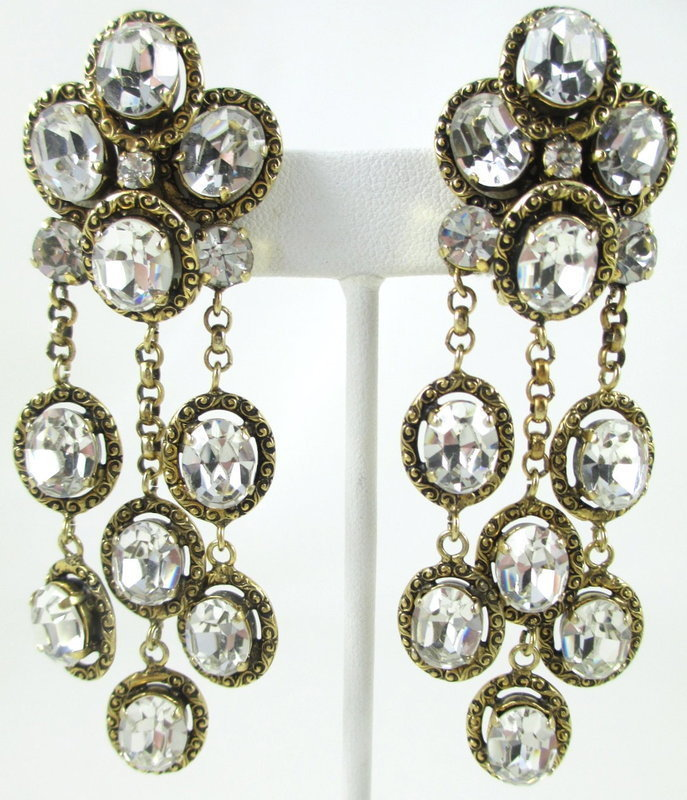 Spectacular Robert Goossens for Chanel Dangle Earrings