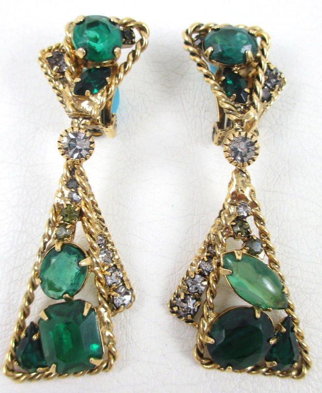 Robert Sorrell Emerald Crystal Necklace & Earrings