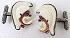 Rare 1940's Ming's Ivory Sterling Mahiole Cufflinks