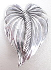 Lovely Ming's Honolulu Sterling Anthurium Flower Pin
