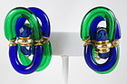Archimede Seguso for Chanel Art Glass Earrings