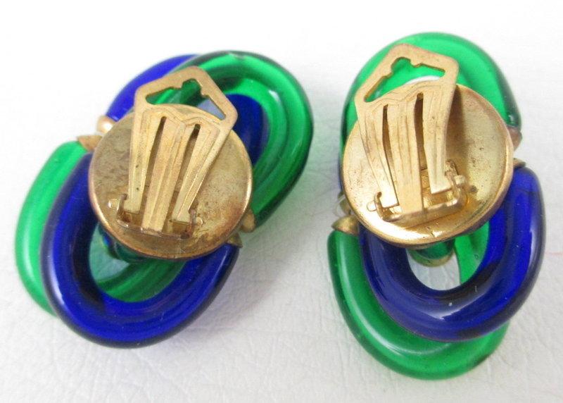 Archimede Seguso for Chanel Art Glass Earrings