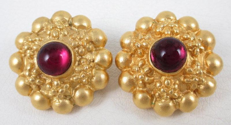 Lovely Deanna Hamro Bohemian Garnet Bracelet & Earrings