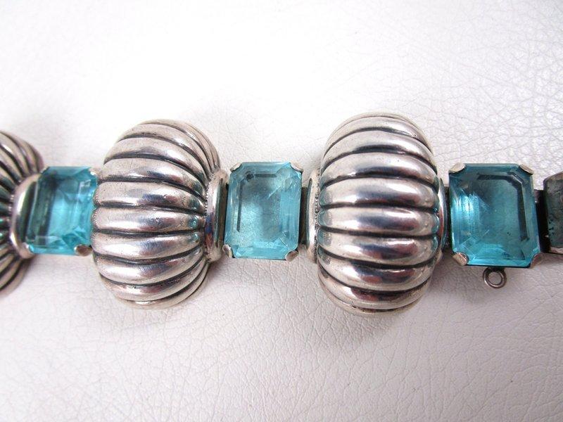 Retro Style Parisina Mexican Silver Bracelet by Marcel Boucher