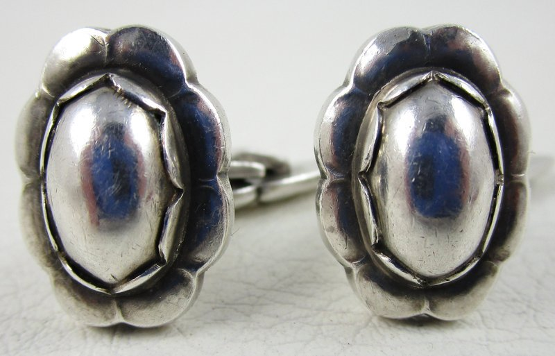 Lovely Georg Jensen Denmark Sterling Silver Cufflinks