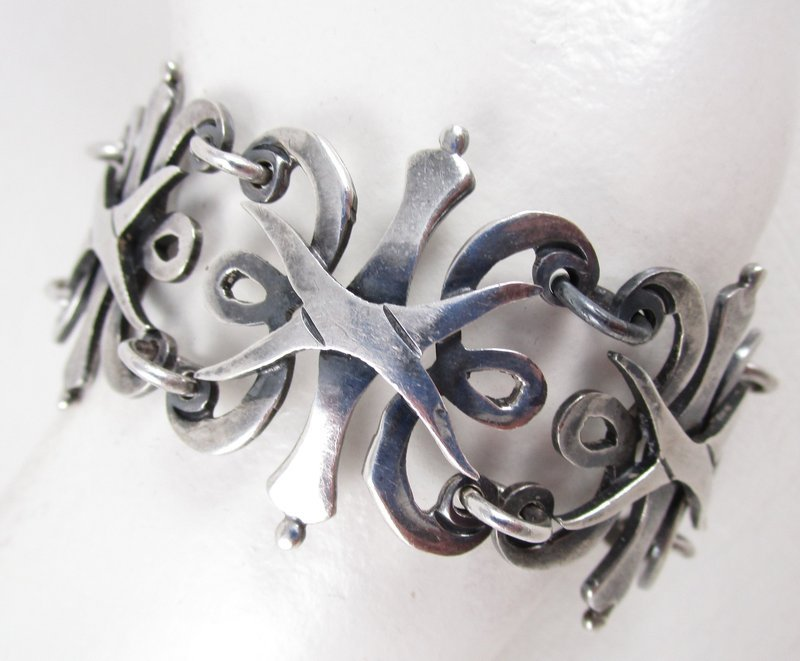 Beautiful Pedro Castillo Mexican Silver Bracelet