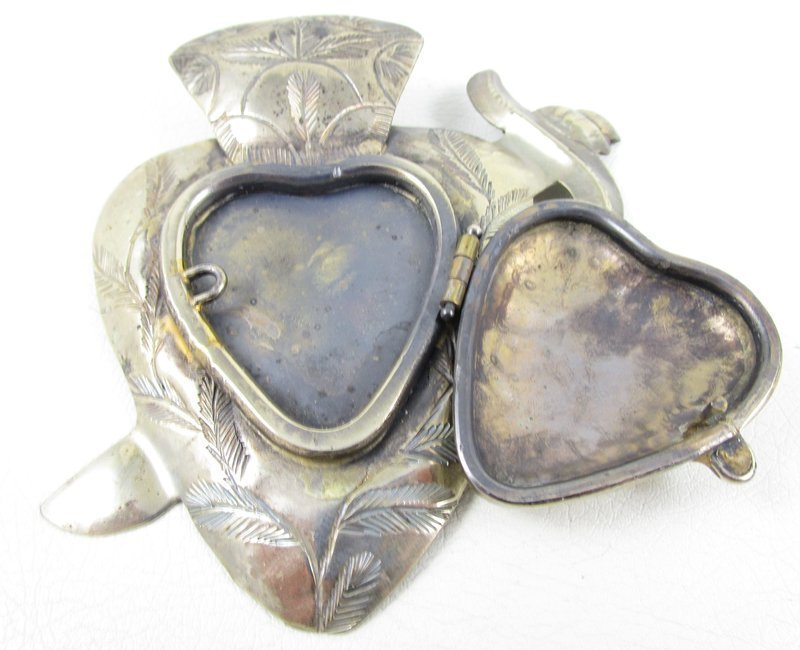 Judith Roberts La Coleccion Sacred Heart Mexican Reliquary Pin Pendant