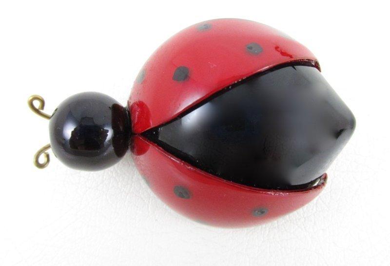 Whimsical Cilea of Paris Resin Lady Bug Pin (Medium)