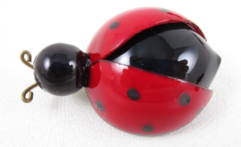 Whimsical Cilea of Paris Resin Lady Bug Pin (Small)