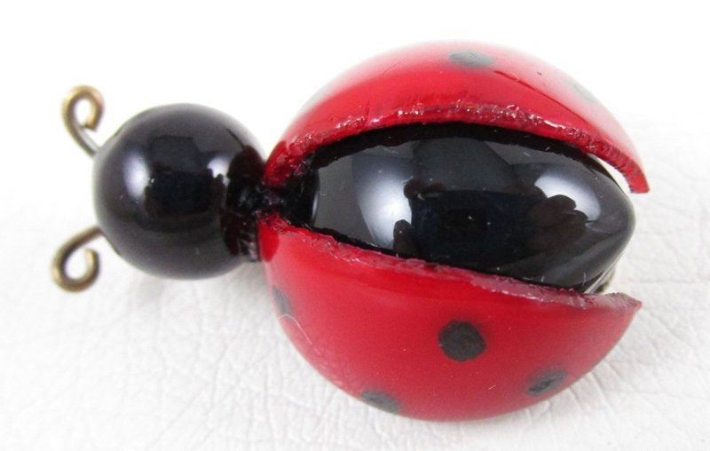 Whimsical Cilea of Paris Resin Lady Bug Pin (Extra Small)