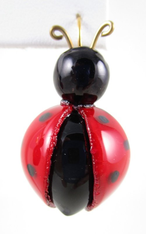 Whimsical Cilea of Paris Resin Lady Bug Earrings