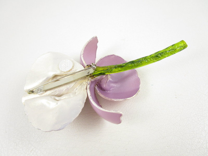 Lovely Cilea of Paris Resin Violet Iris Pin