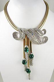 Extremely RARE Marcel Boucher Retro Design Bib Necklace