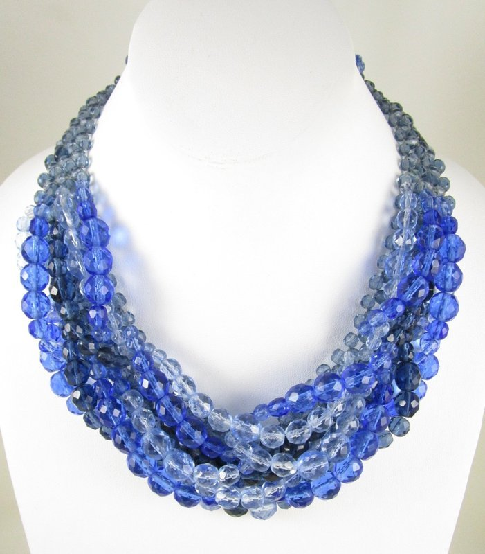 Gorgeous Coppola e Toppo Blue Ombre Torsade Necklace