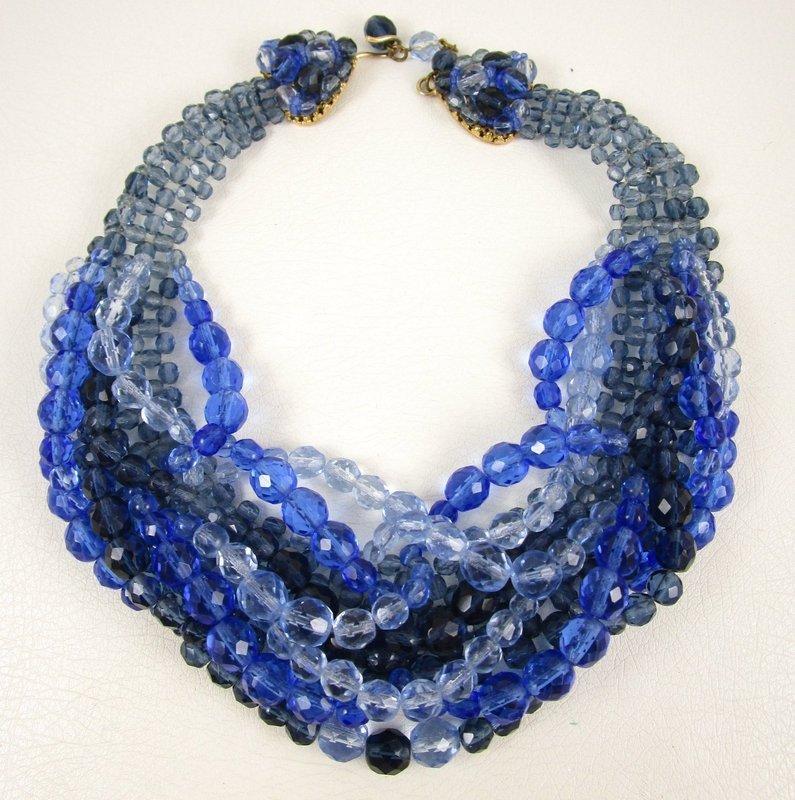 Gorgeous Coppola e Toppo Blue Ombre Torsade Necklace
